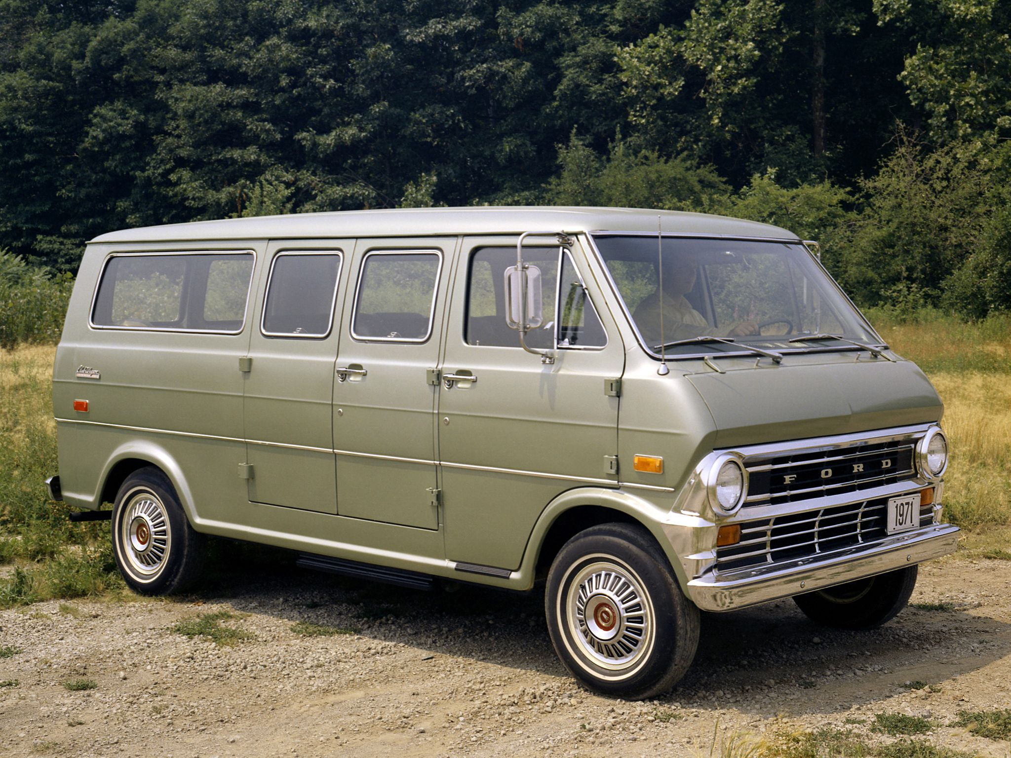1971 Ford Econoline Club Wagon With Images Ford Van Ford