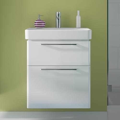 Keramag Smyle Waschtischunterschrank Front und Korpus weiß hochglanz ...