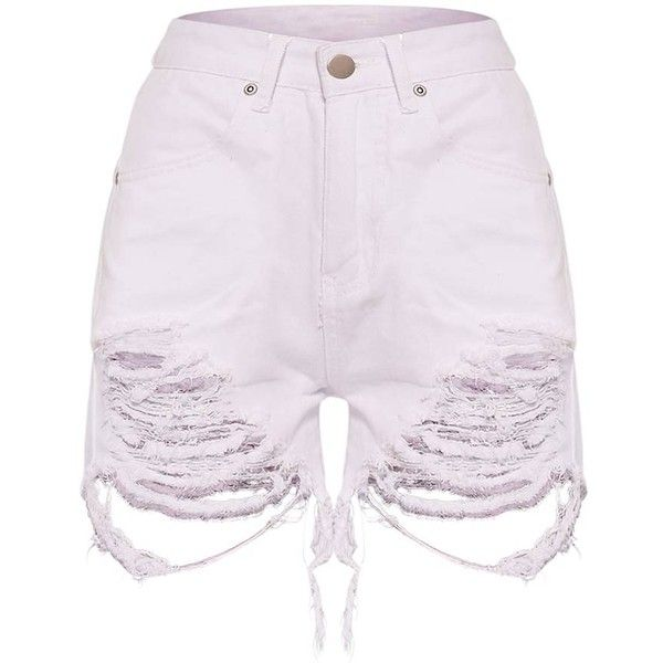 3f1d0edb545 Jeanie Pink Extreme Rip Mom Short ( 32) ❤ liked on Polyvore featuring shorts