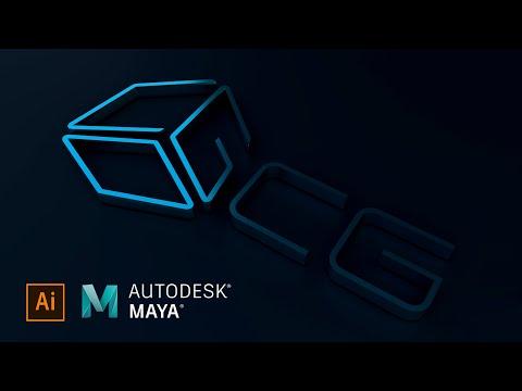 Convert 2d Logo To 3d Logo In Autodesk Maya Using Vector File From Adobe Illustrator Youtube In 2021 3d Logo Autodesk Maya