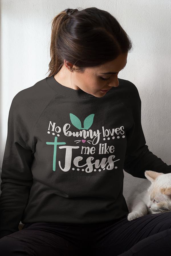 Download No bunny loves me like Jesus long sleeve t-shirt ...