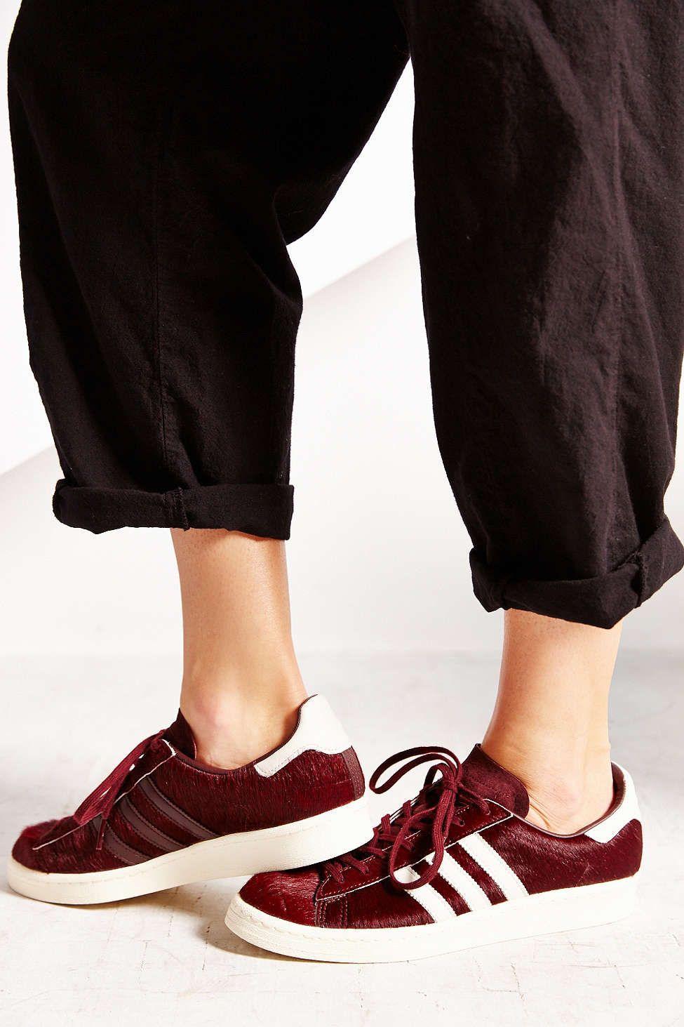 sports shoes 8dfab 3c13d adidas Originals Blue Calf Campus 80s Womens Sneaker