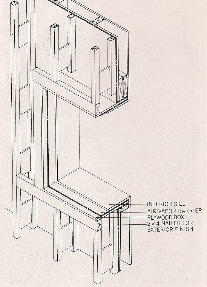 steel rigid frame overhang | Step 4. Finish details around windows ...