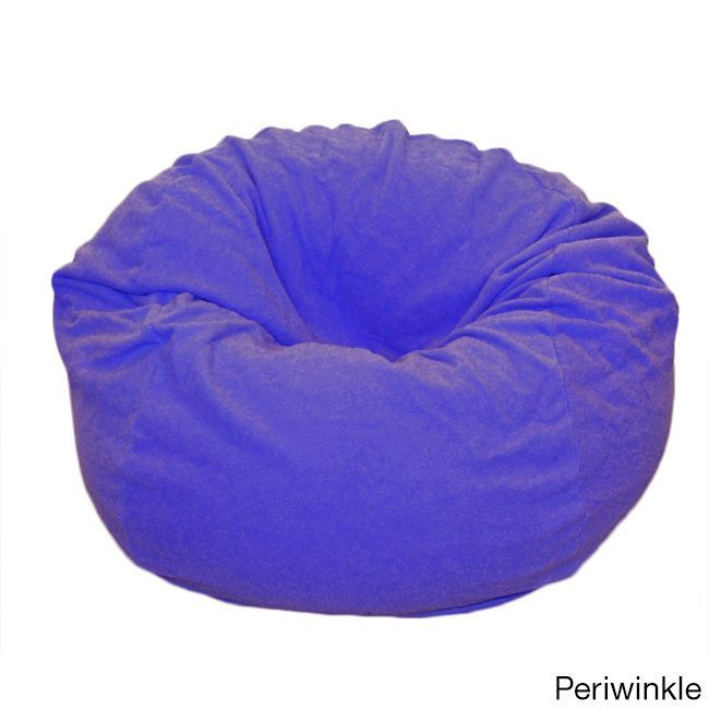 Ahh Products Anti Pill 36 Inch Wide Fleece Washable Bean Bag Chair  (Periwinkle
