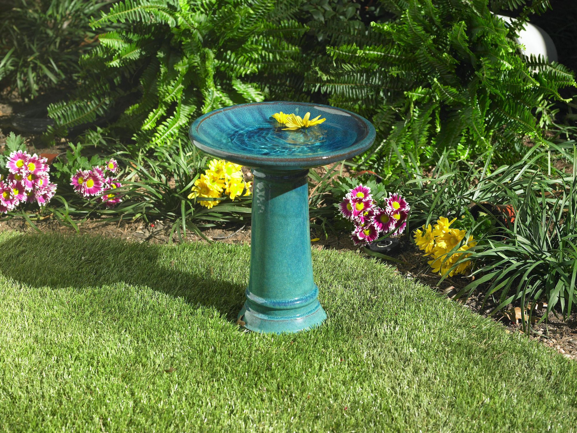 Birds get thirsty too! Add a bird bath to your garden ...