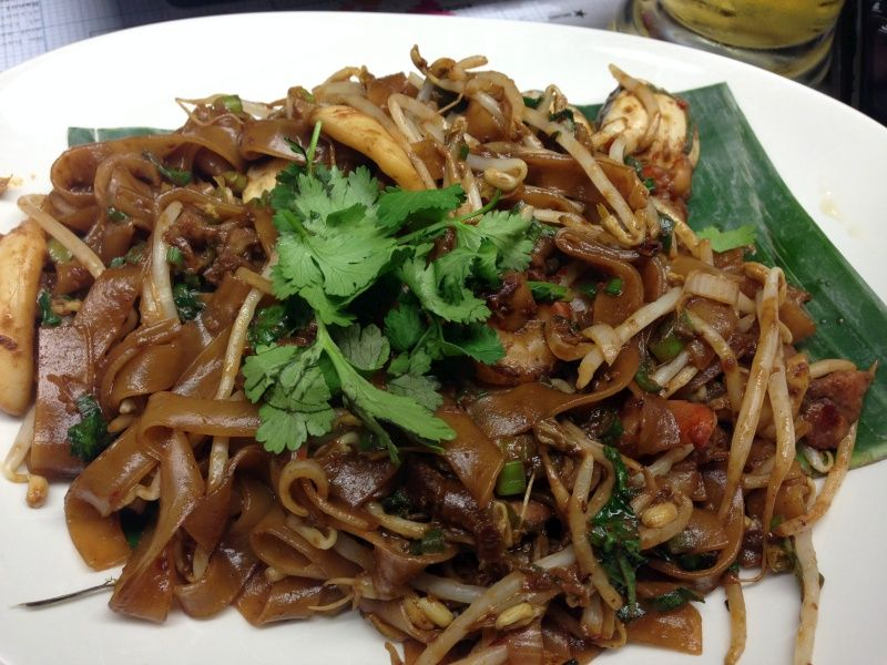 char kway teow  east street london  ho fun noodles with