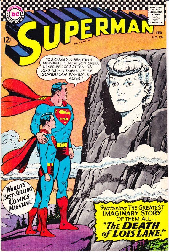 Superman 194, DC Comics, Death of Lois Lane comic book, Lex Luthor. Curt Swan from 1967