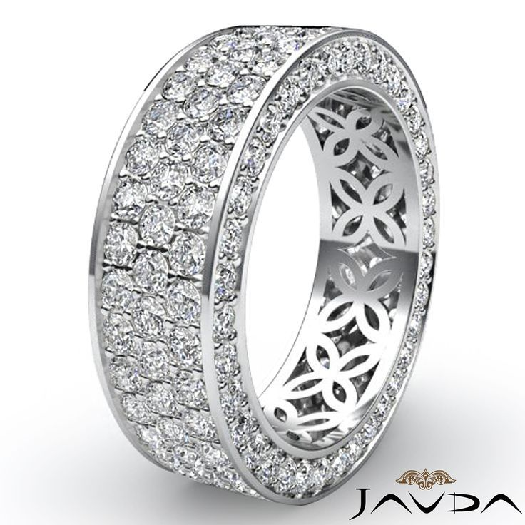 Diamond Rings Thick Wedding Band