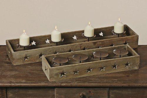 Boltze 2606200 aktuelle Holz Kerzenleuchterschale Argo XXL 80cm / bei na-und: Amazon.de: Küche & Haushalt