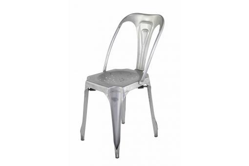 Chaise Industrielle Argent Metal Kirk Chaise Pas Cher Chaise Industrielle Chaise Design Pas Cher Metal Argente