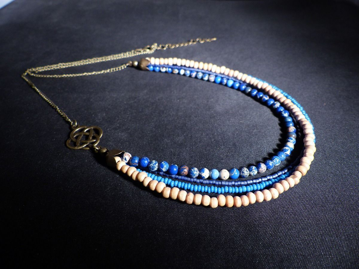 collier perle etnique