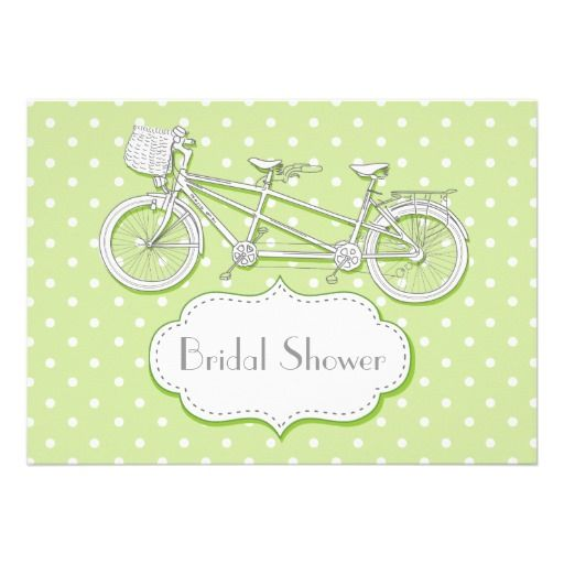Tandem bicycle lime green polka dot wedding bridal shower invitation tandem bicycle lime green polka dot wedding bridal shower invitation filmwisefo