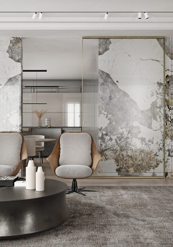 Magnificent Modern Marble Interior With Metallic Accents Marble Interior Interior Architecture Interior Design
