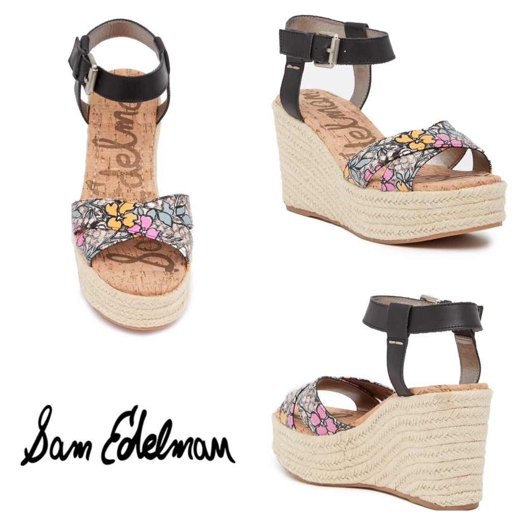 51807cf62b1 Sam Edelman Shoes | Nib Sam Edelman Destin Espadrille Wedge Sandal ...