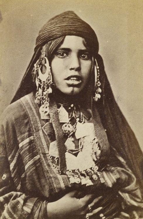 Africa | Young Bedouin woman photographed in Egypt. ca 1860s | Photo taken by…