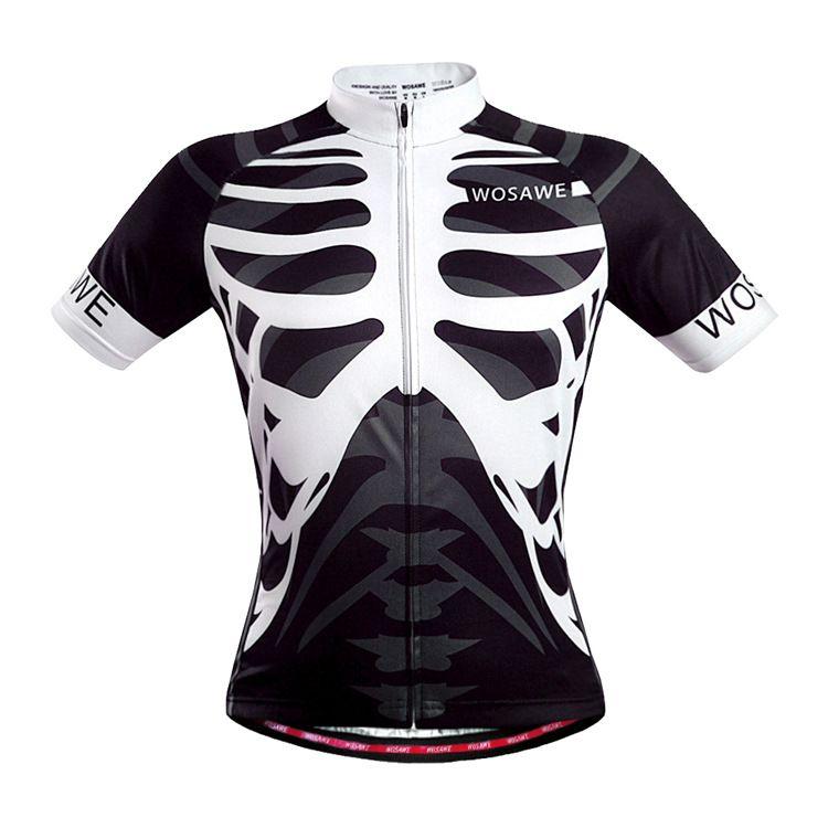 Herren Radtrikot MTB Rennrad Pro Team Shirt Fahrrad fahren Skeleton Tops Jersey