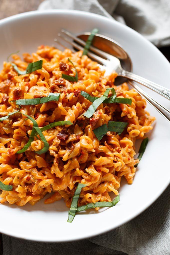 Rote Linsen Pasta mit cremigster Getrocknete Tomaten-Sauce #presidents