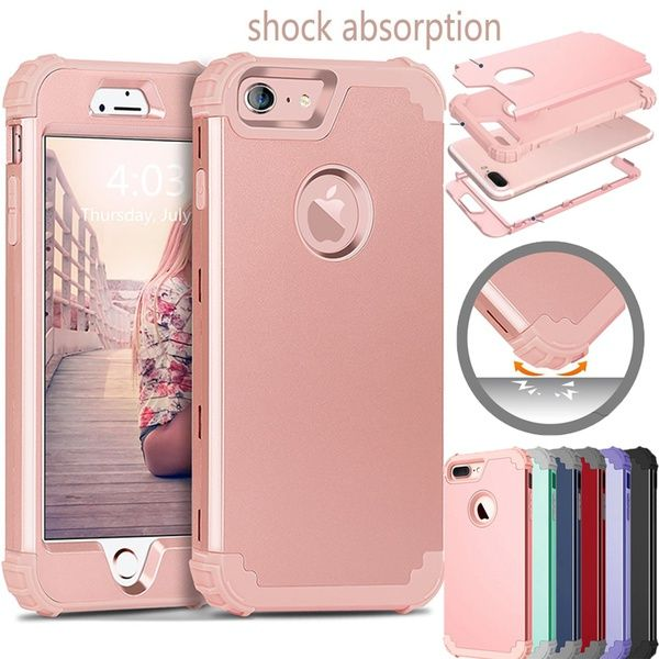 shockproof hybrid heavy duty high impact protective rubber defenderwish for iphone 8 8 plus case shockproof hybrid heavy duty high impact protective rubber defender case cover for apple iphone 7 7 plus 6 6s 6 plus 6s plus