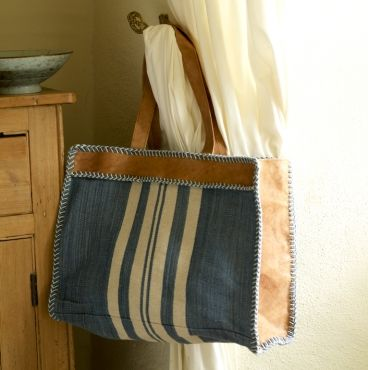 Fair Trade Leather And Canvas Tote