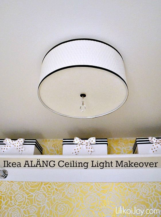 Ikea Mini Hack: ALÄNG Ceiling Light Makeover {how-to} | DIY Home ...