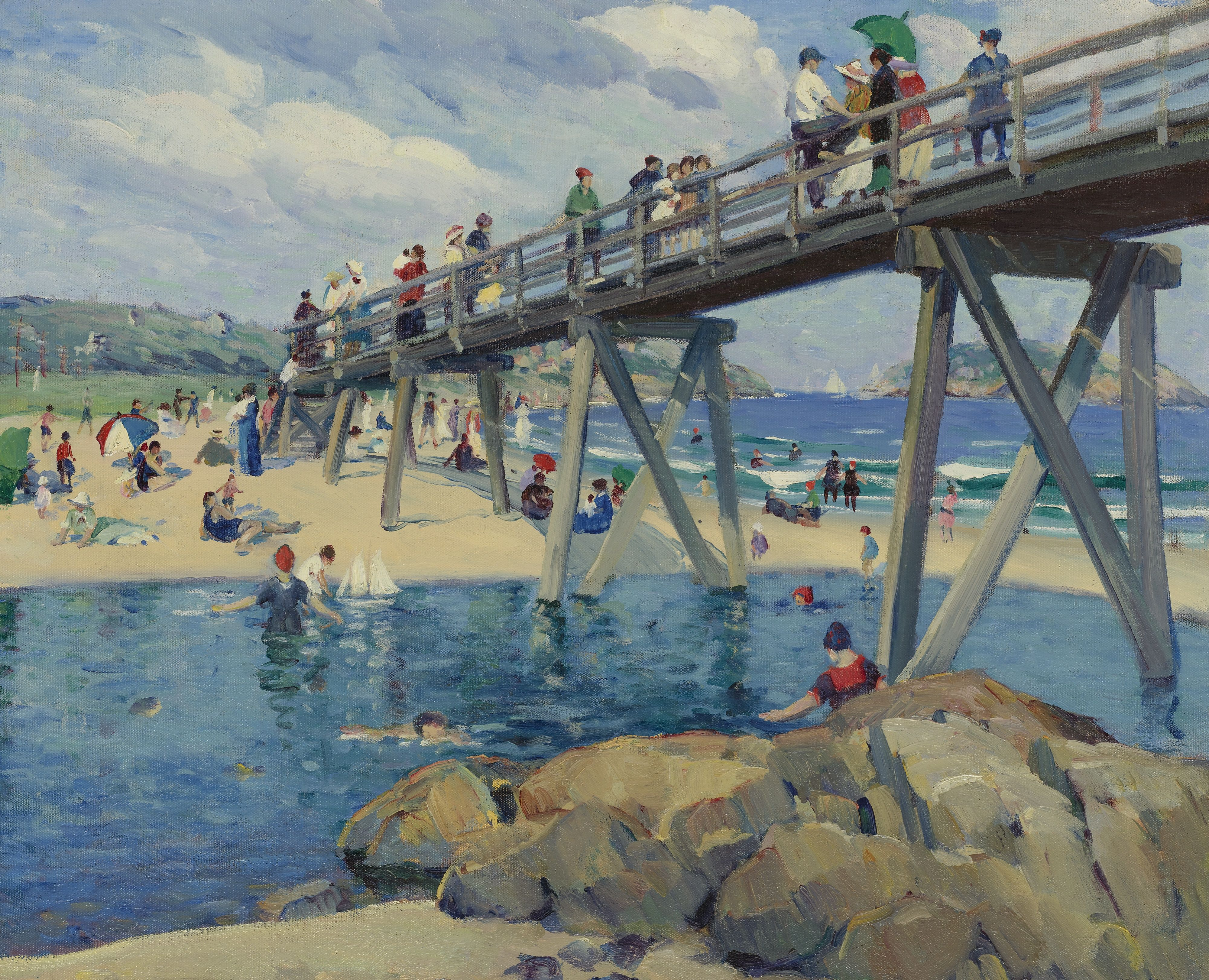 """Good Harbor Beach, Gloucester,"" Leon Kroll, 1912, oil on canvas, 26 x 32"", private collection."