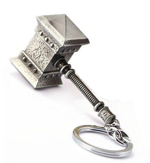 Marvel The Avengers Thor Thor/'s Hammer Mjolnir Pewter Metal Keyring KeyChain CH