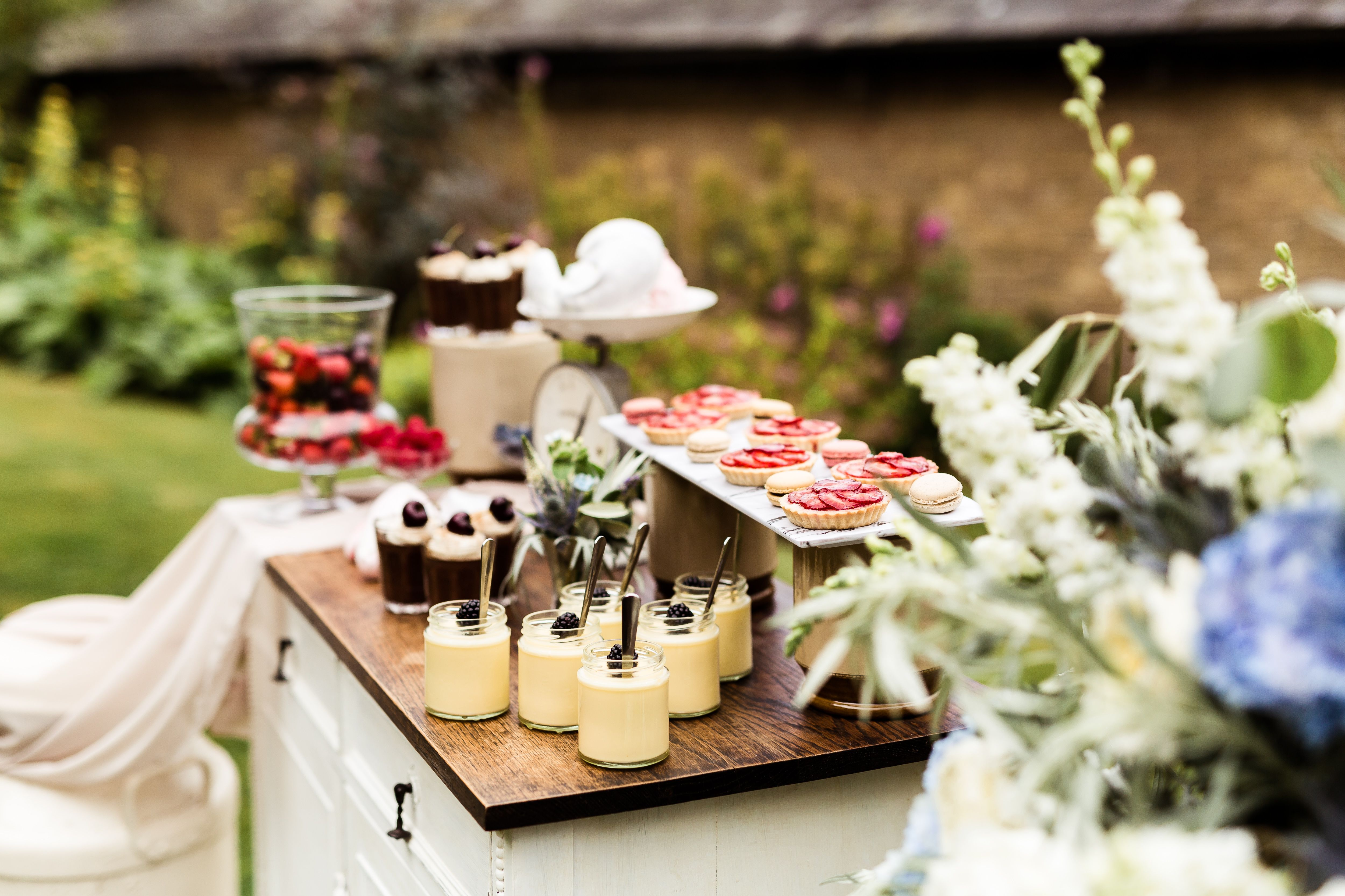Dessert station Venue Lattenbury Hill Styling Hall and Co