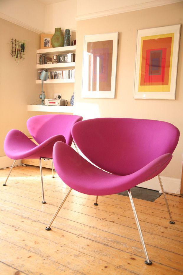 Artifort S Orange Slice Chair Modern Design Interior