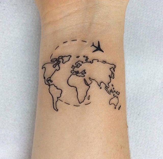 carte du monde tatouage Ma source d'inspiration PINTEREST | Tatouage, Petit tatouage