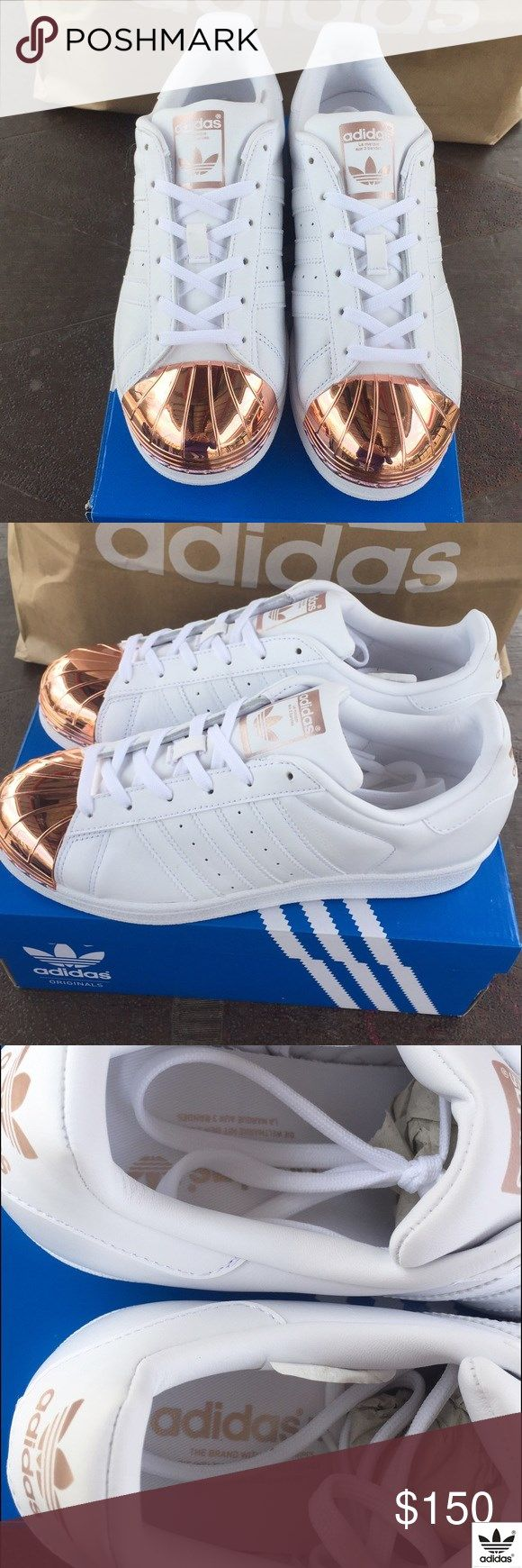 sports shoes aac64 44261 EXCLUSIVE Rose Gold Adidas Superstar (Shelltoes) Amazing real rose gold  metal plate on the toe. Rose gold and white only. Brand new. Super exclusive .