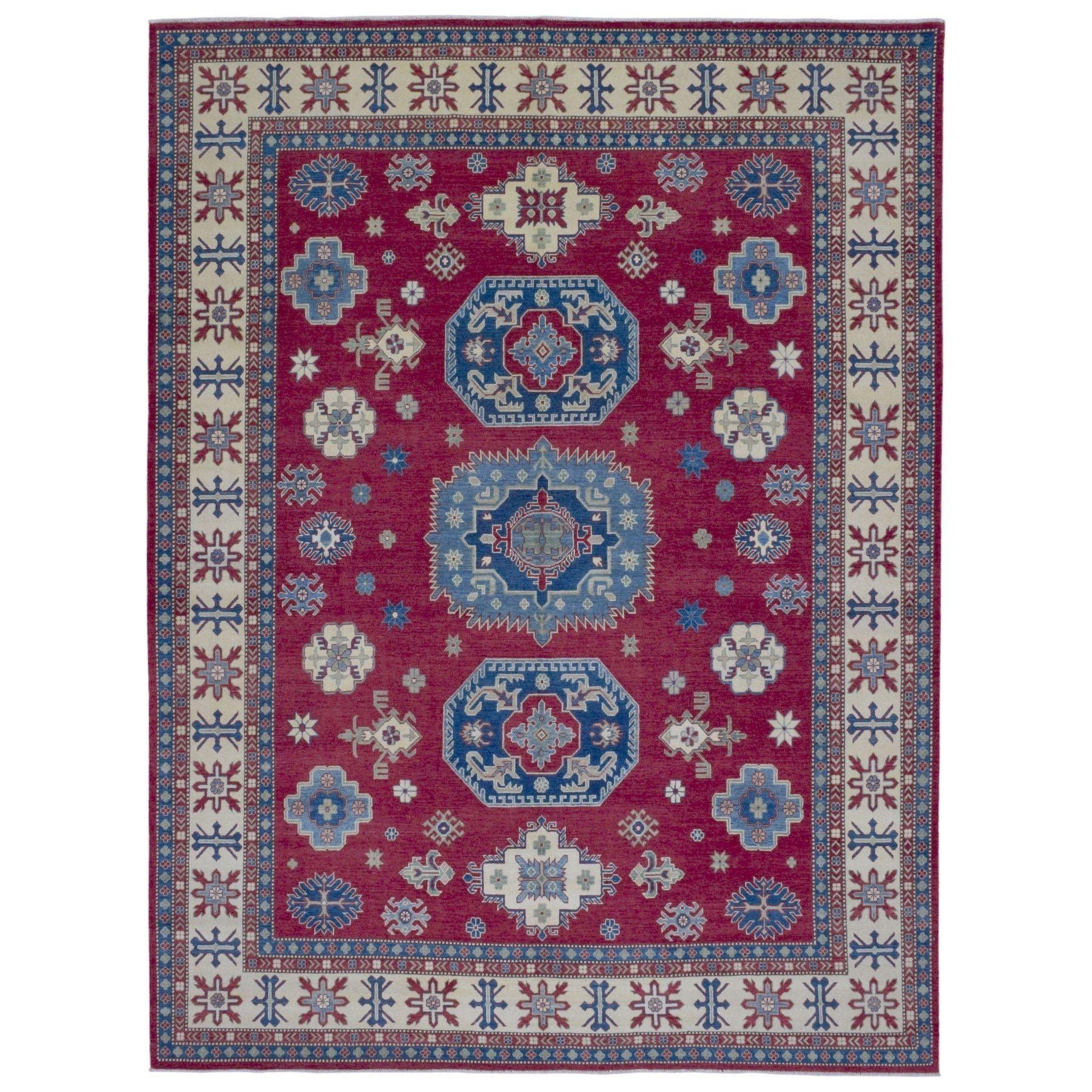 Best Finerugcollection Fine Pakistan Kazak Handmade Red Blue 640 x 480