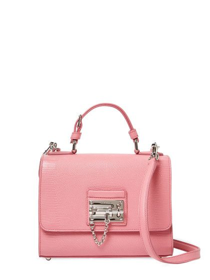 Mini Iguana Embossed Leather Satchel by Dolce