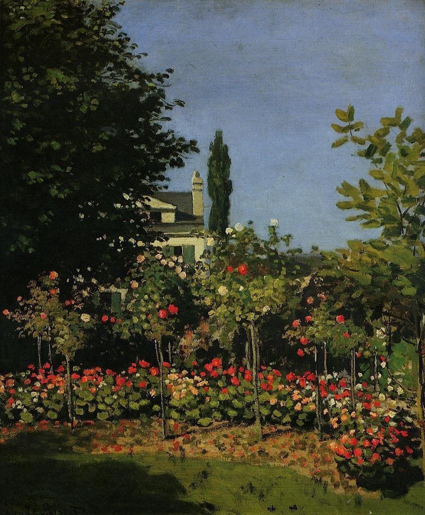 Claude Monet - Jardin en fleurs à Sainte-Adresse