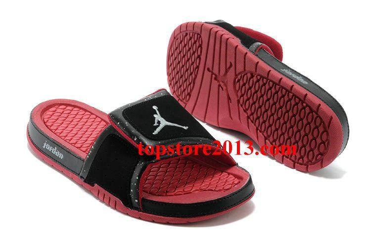 97eec32b7 Air Jordan Shoes · Sneakers Nike · Flip Flops · Fishing Line · Girls Jordan  Hydro 2 Slide Black Gym Red