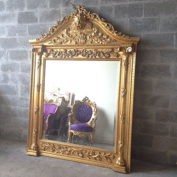 Antique French Floor Mirror Lion Head over *7\' Feet Tall* Floral ...