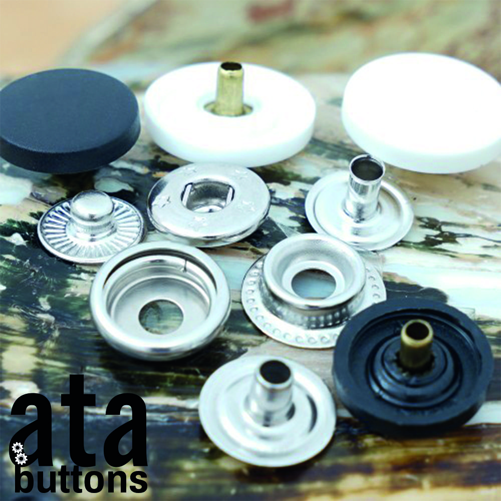 Snap buttons with nylon cap is made of brass material and there is no phthalate nor PVC in the top part. The product is resistant to corrosion. Plastic cap gives products a more elegant appearance.  #snapbutton #fashionaccesories #garment #madeinturkey #atabuttons #garmentaccessories #denim #jeanbuttons #eyelet #jeans #jeansbutton #snap #prongsnap #rivets #nylonsnapbuttons #nylonbuttons