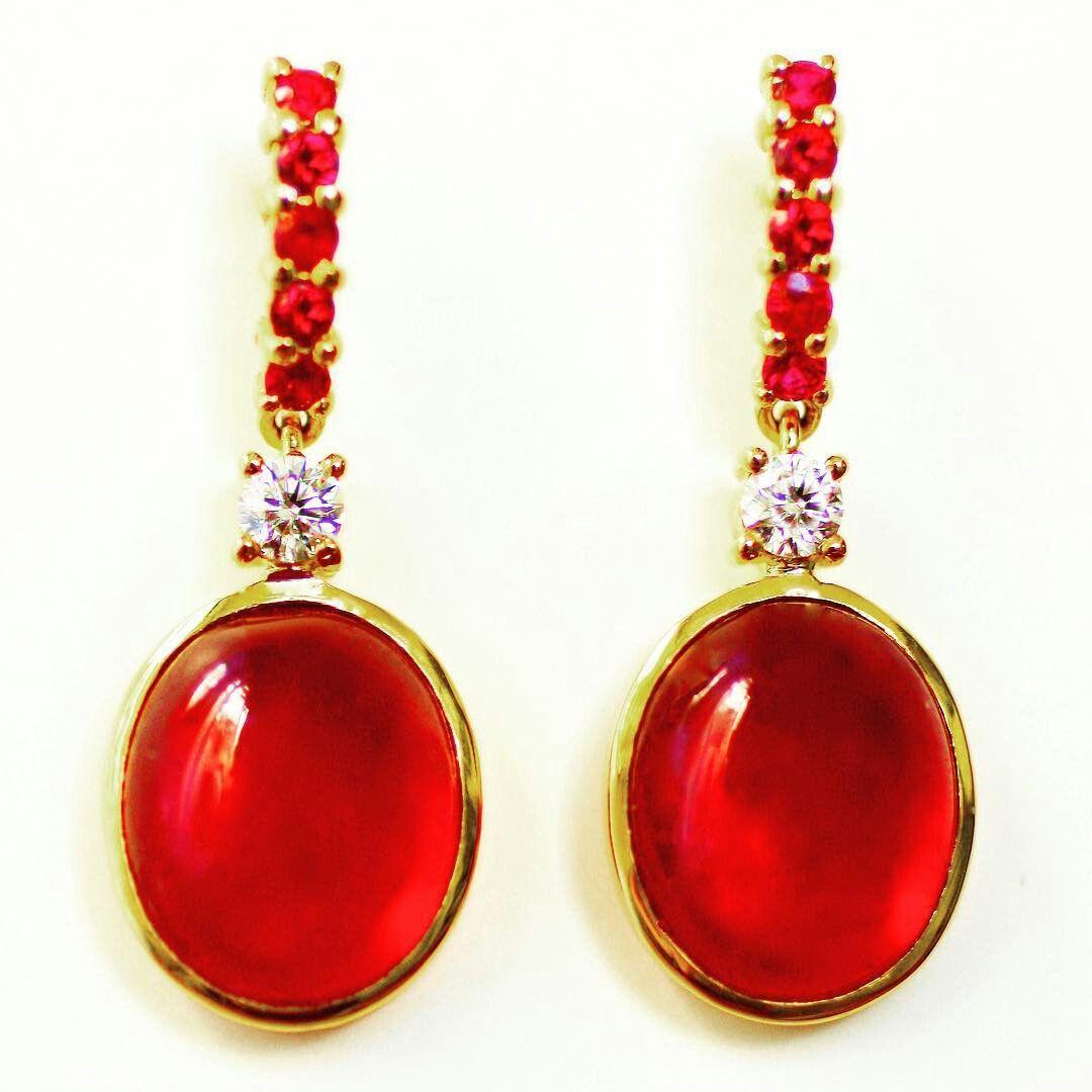 Always a class act: Ruby & Diamond earrings. www.johnmeierfinejewelry.com