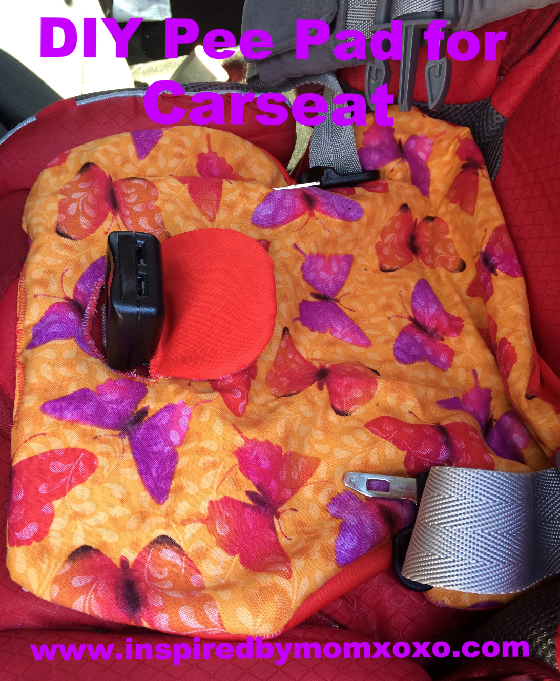 Tutorial: Potty training car seat pee pad | Car seats, Patterns and ...