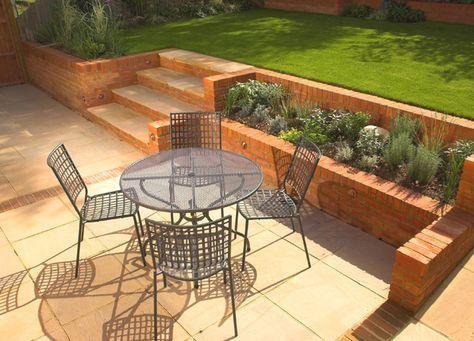 Small Sloping Garden Design   Sloped garden, Landscaping ... on Patio Ideas For Sloping Gardens id=77860