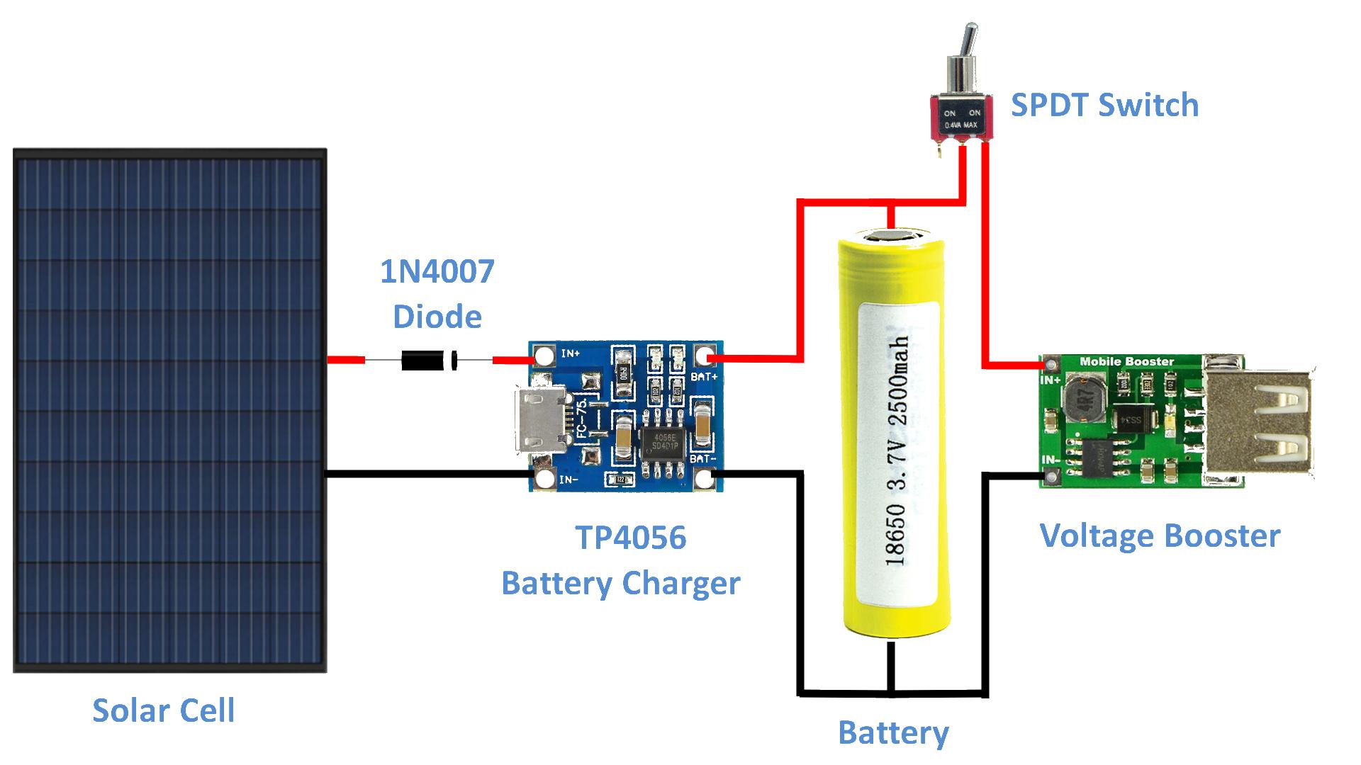 Diy Solar Battery Charger Arduino Maker Pro Solar Charger Solar Battery Solar Battery Charger