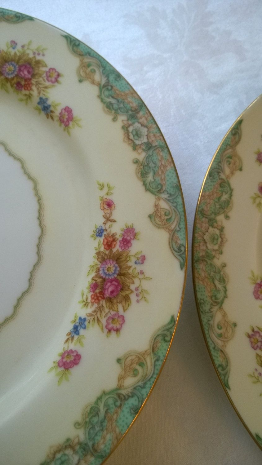 vintage china dinner plates4 Craftsman china plates made in Japan by highlandcottage on Etsy & vintage china dinner plates4 Craftsman china plates made in Japan ...
