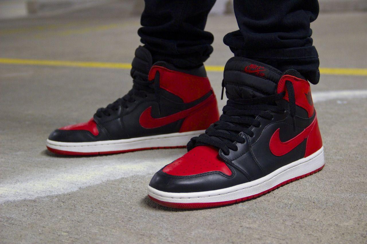 Air Jordan I black red  a3fc7037a