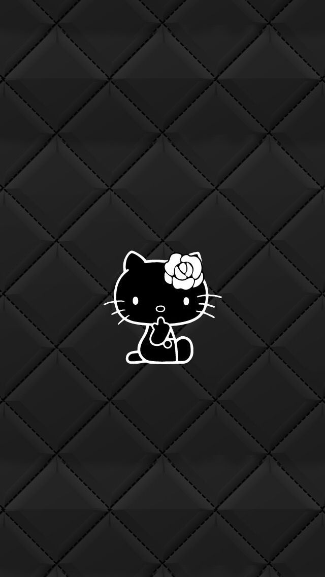 hello kitty coloring pages wallpapers for ipad   キティちゃん Black   ハローキティー、ハローキティの壁紙、キティの壁紙