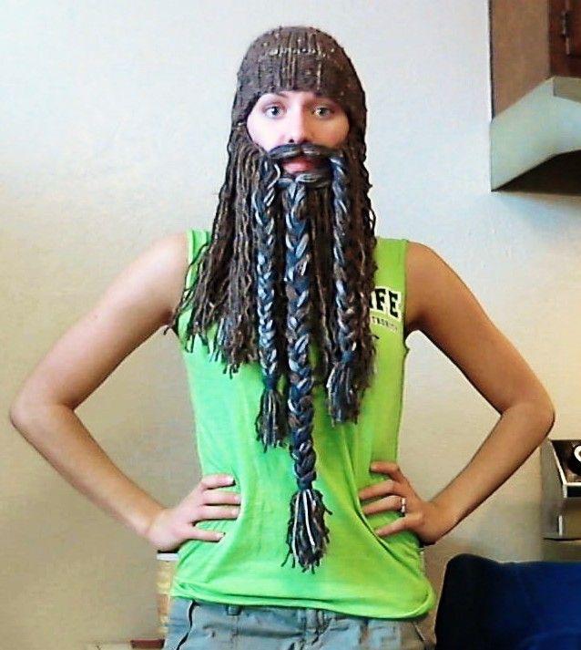 Keep calm and crochet beard hats. #crochetedbeards