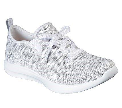 skechers memory foam white sneakers