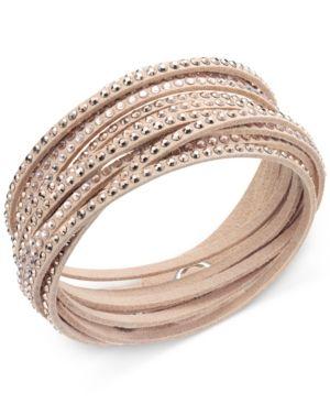 Swarovski Slake Crystal Wrap Bracelet - Tan/Beige