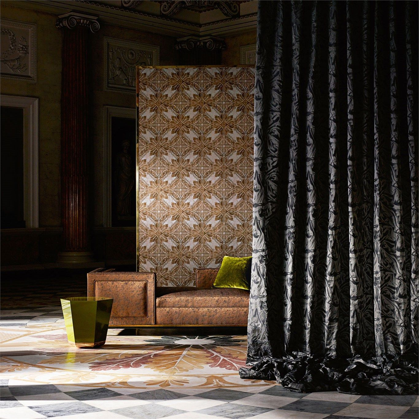 Medevi Mirror Wallpaper From The Phaedra Collection By