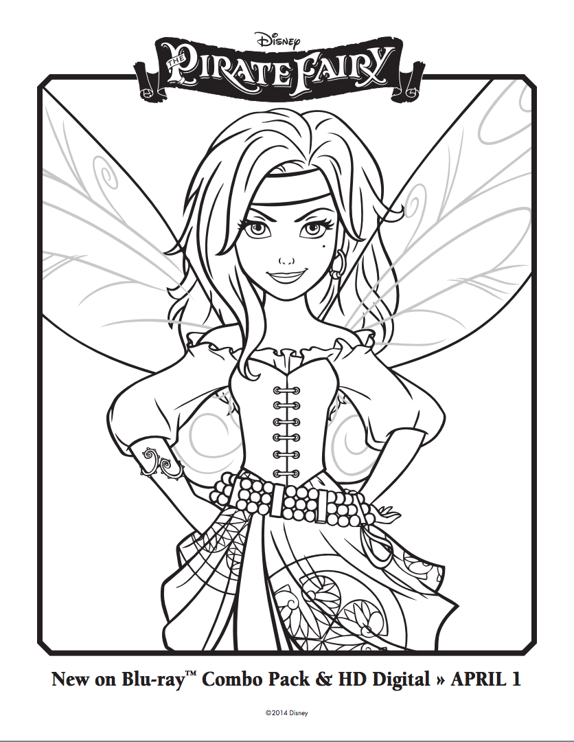 The pirate fairy coloring sheets sketch ideas pinterest pirate