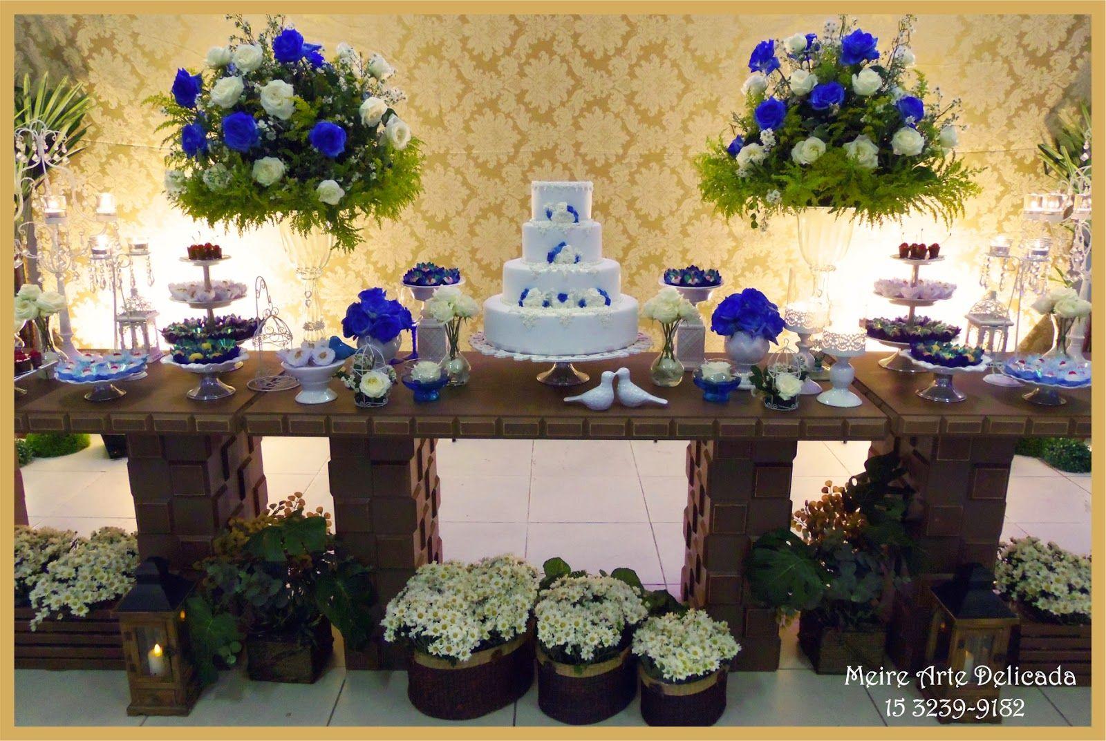 Resultado de imagem para HALL DE ENTRADA CASAMENTO AZUL ROYAL IDEIAS FESTA 15 ANOS Casamento