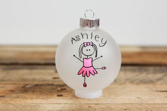 Tree Decoration Christmas Tree Personalised Ballet Dancer Christmas Flat Bauble